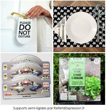 Support semi-rigide Plaque rallye set de table etiquette par RefletdExpression.fr