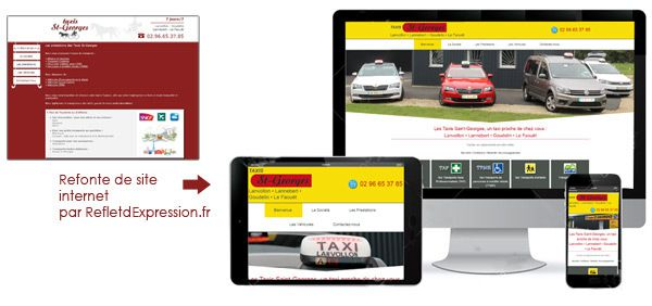 Site internet Les Taxis St Georges Lanvollon Lannebert par RefletdExpression.fr