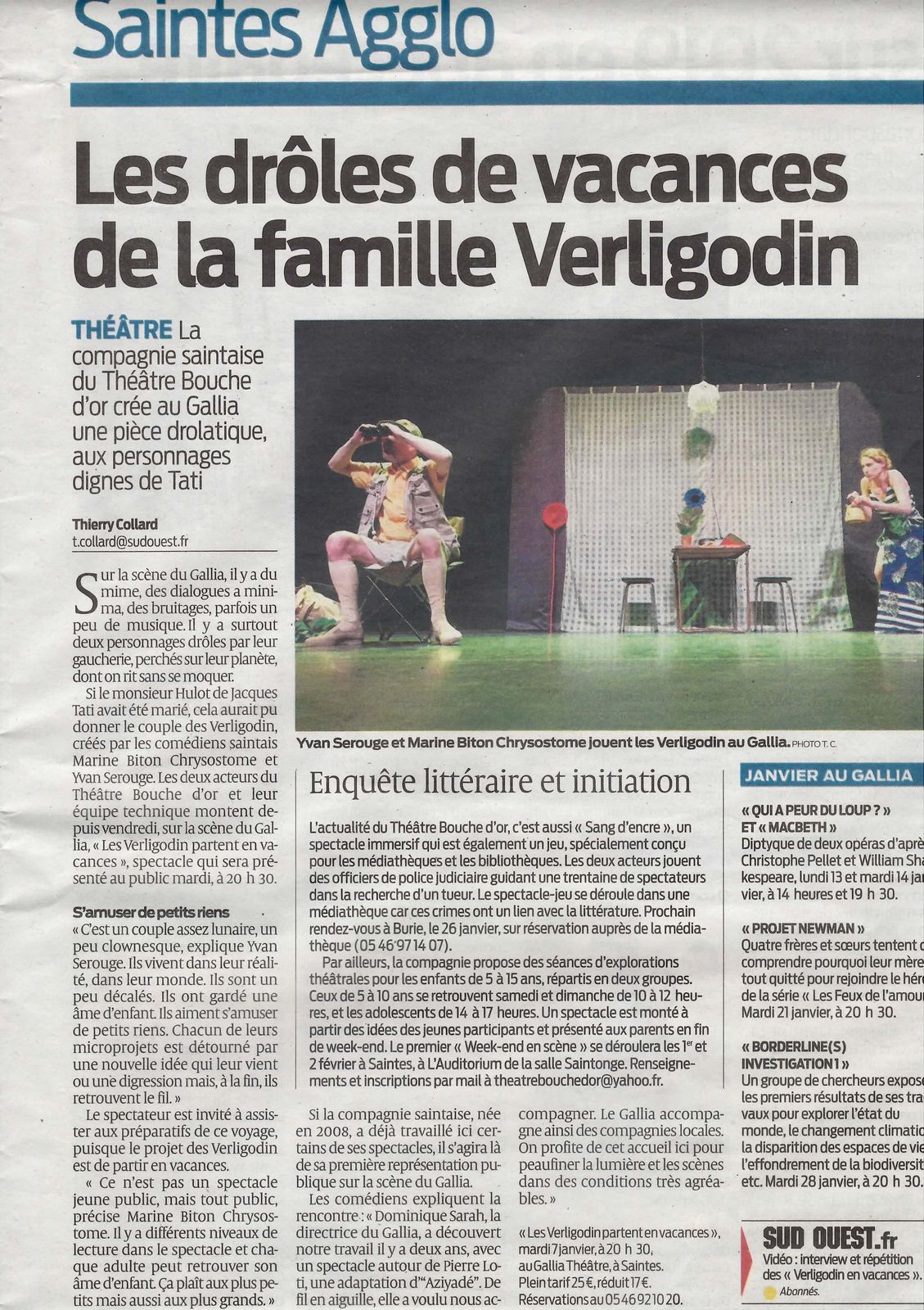 Article Sud-Ouest 06/01/2020