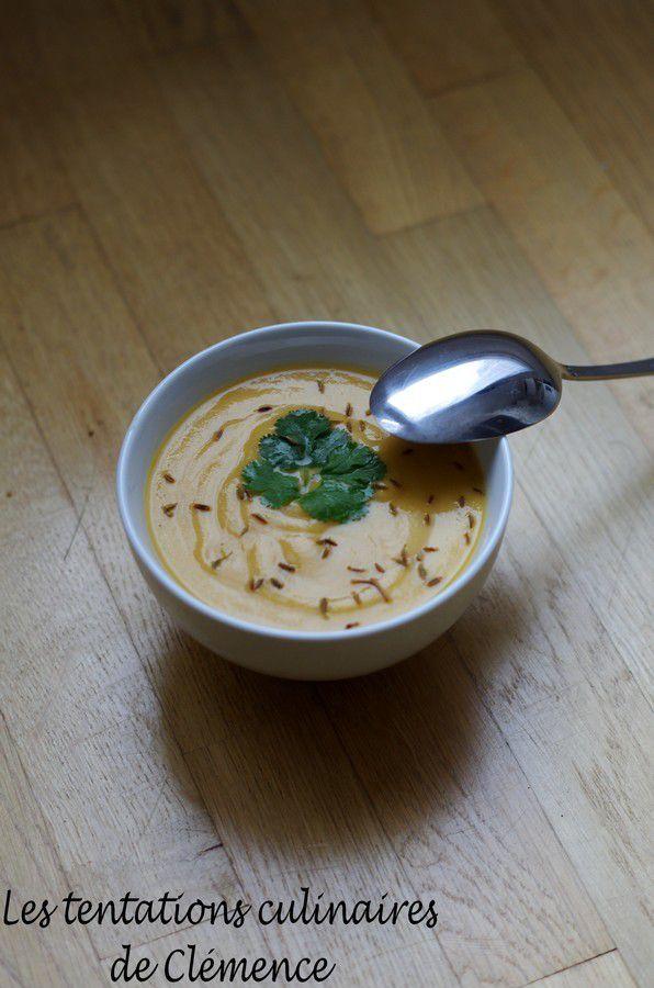 Soupe de lentilles corail aux épices