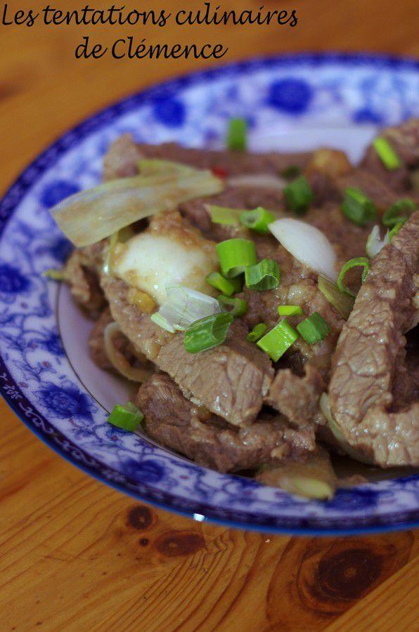 Repas coréen, le plat principal : le bulgogi de boeuf
