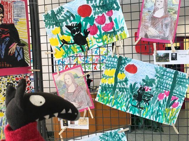 Oeuvres d'art réalisées par les artistes de l'école