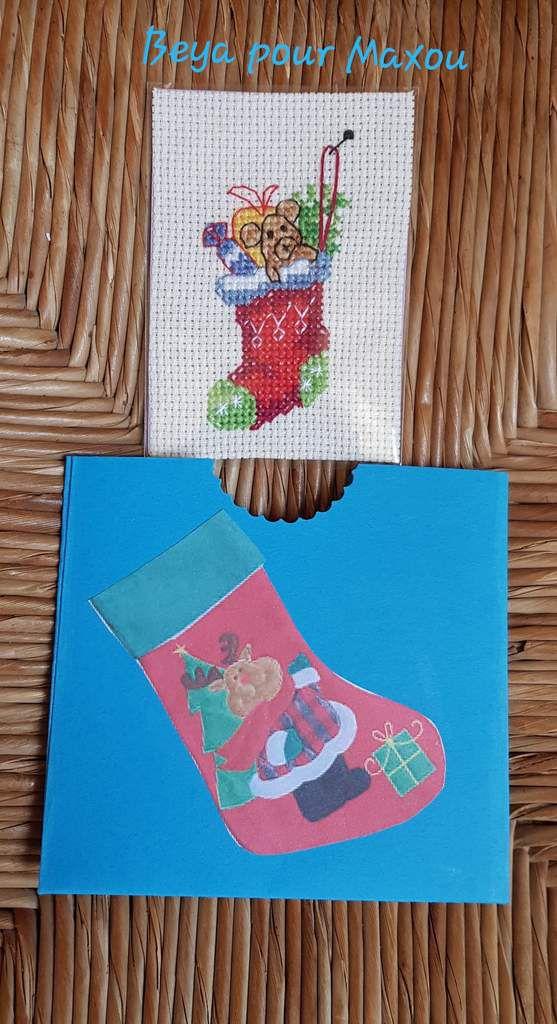 Beya a choisi  la botte de Noël accompagnée de sa petite enveloppe