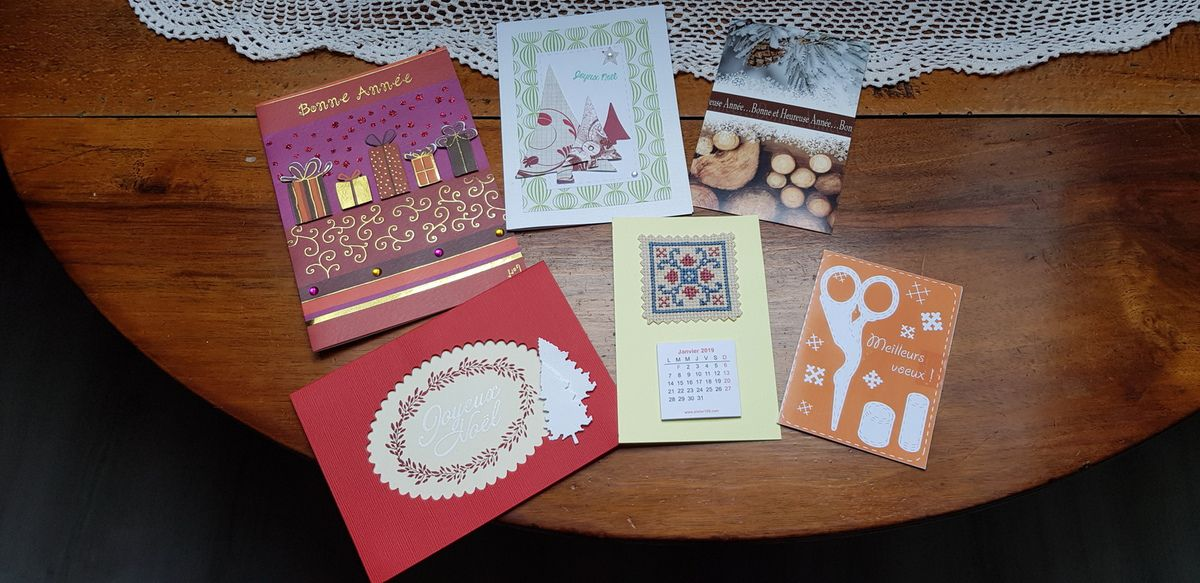 Merci à  Tortue Beya Caillou Valérie Titemage et Rose pour vos cartes de voeux