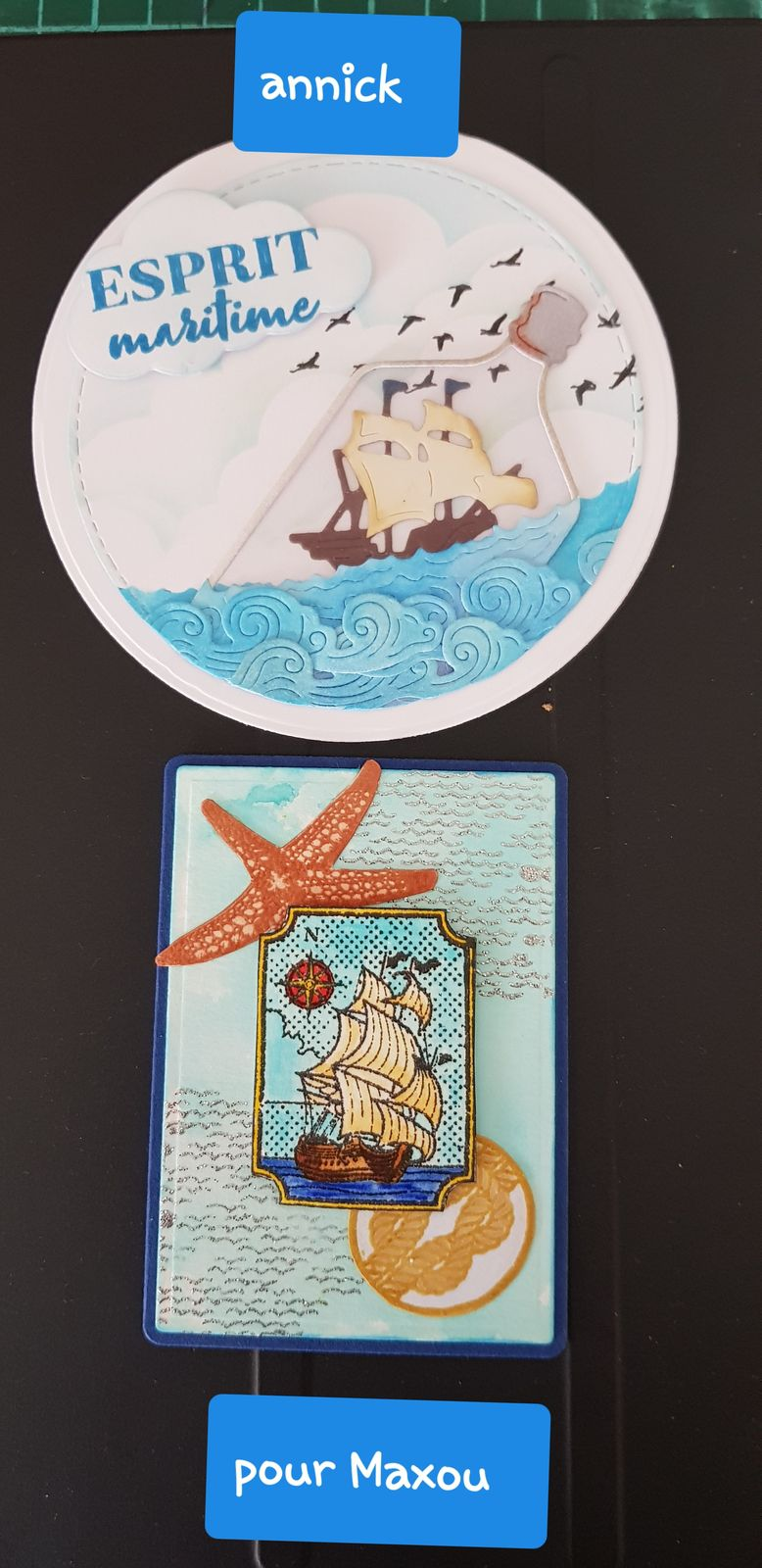 Voici la belle atc reçue  de Annick accompagnée d une jolie carte