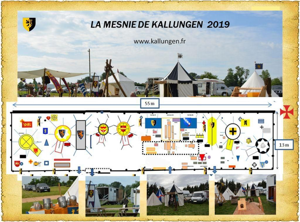 Implantation type de la Mesnie de Kallungen 2019