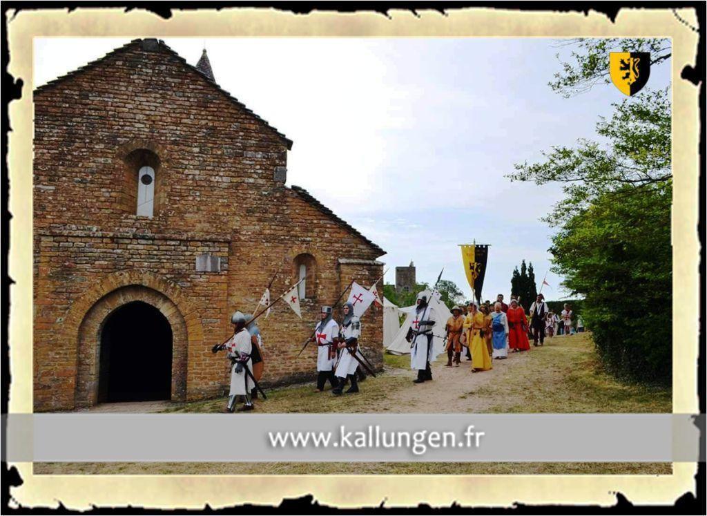 Mittelalterliche Reenactment Gruppe