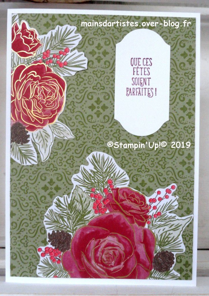 PAPIER,NOEL ARRIVE,STAMPIN'UP!.