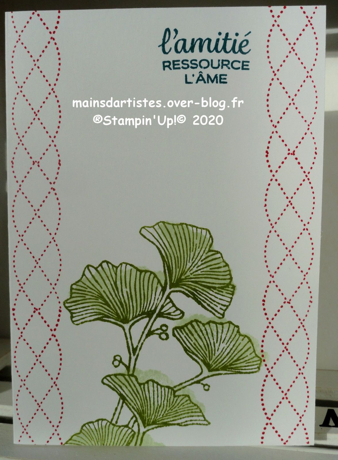 TAMPON JOLIMENT TRESSE,STAMPIN'UP!.