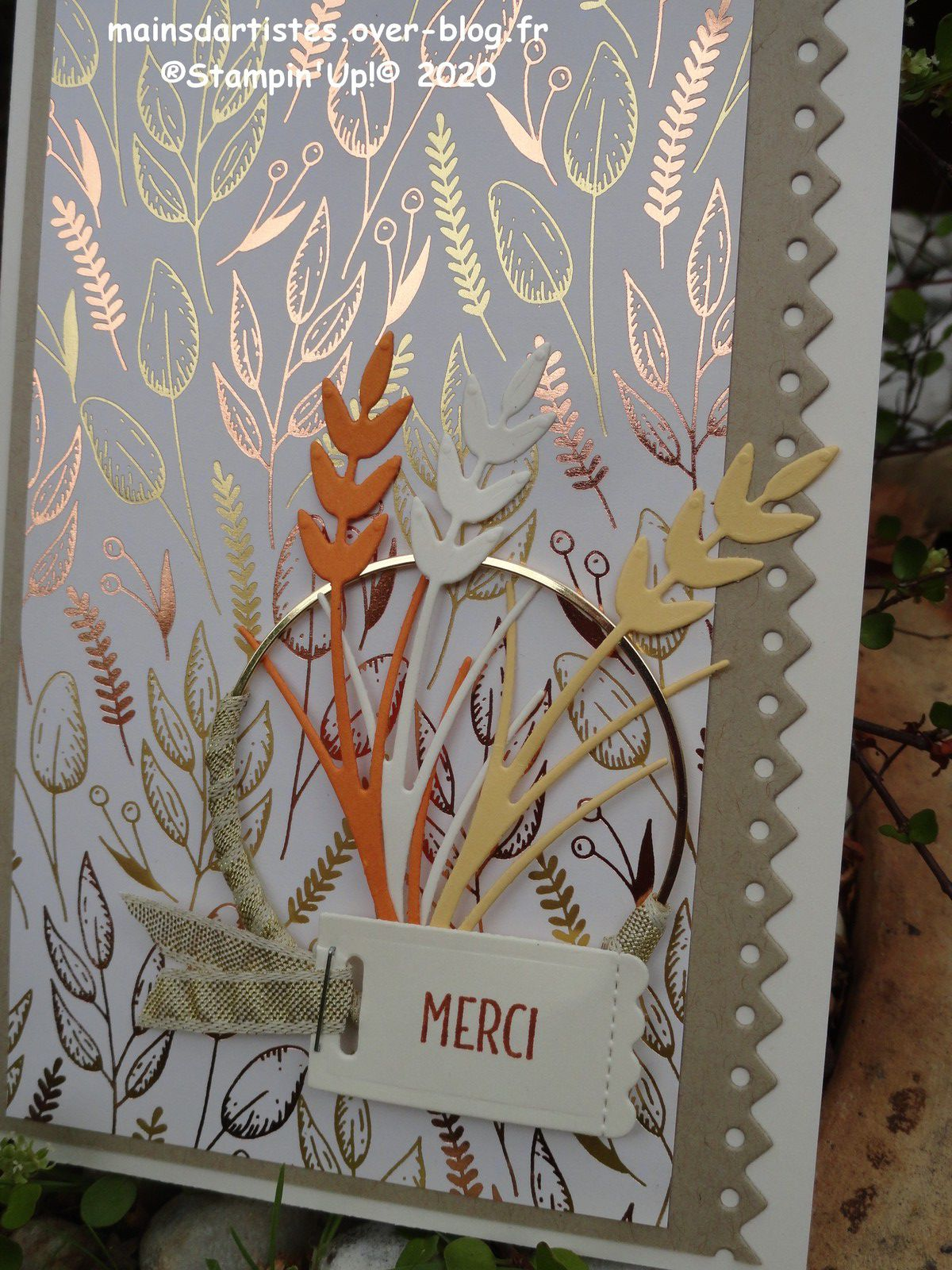 PAPIER AUTOMNE D'OR,STAMPIN'UP!