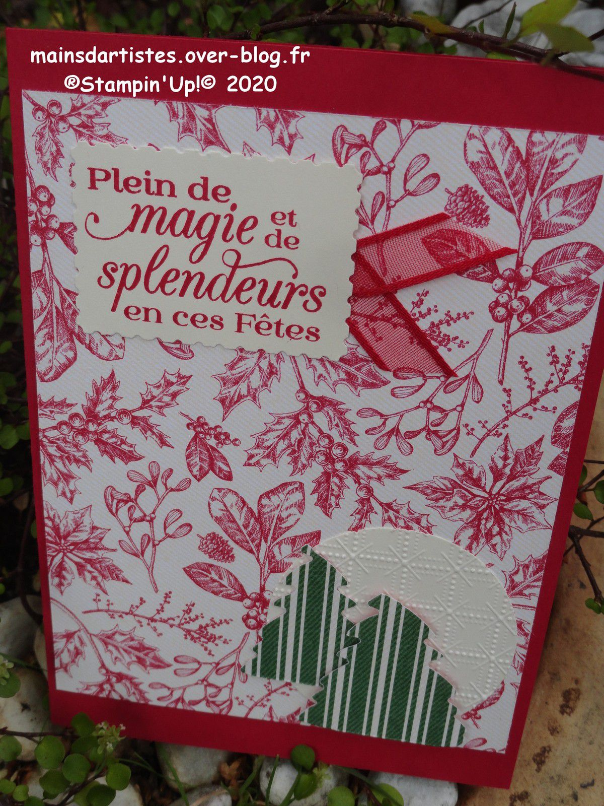 CARTES STAMPIN'UP!,PAPIER DESIGN TOILE TRADITIONNELLE.