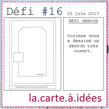 DEFI 16 de La Carte à Idées  !!!!