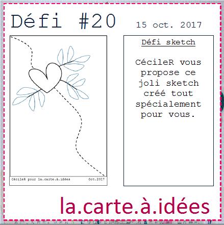 DEFI 20 La Carte A Idées  !!!!