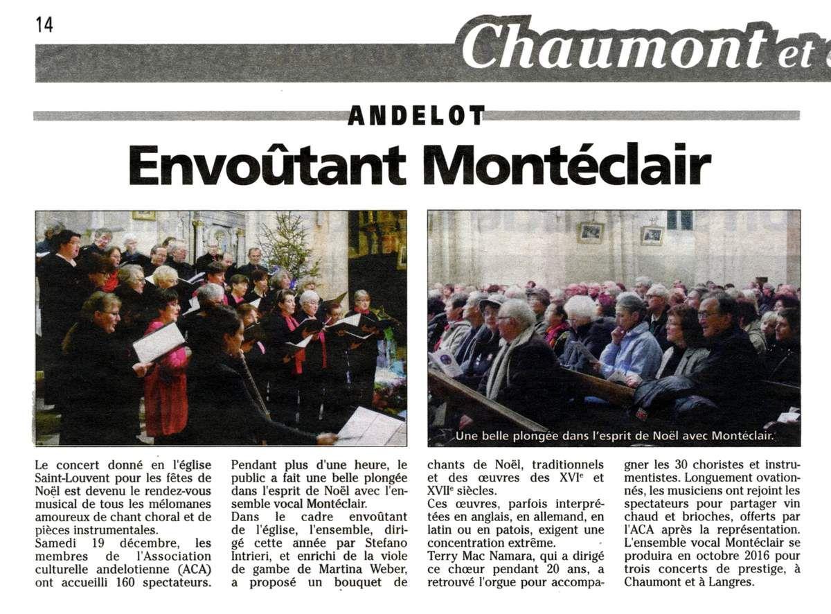 Concert de Noël à Andelot, 19/12/2015