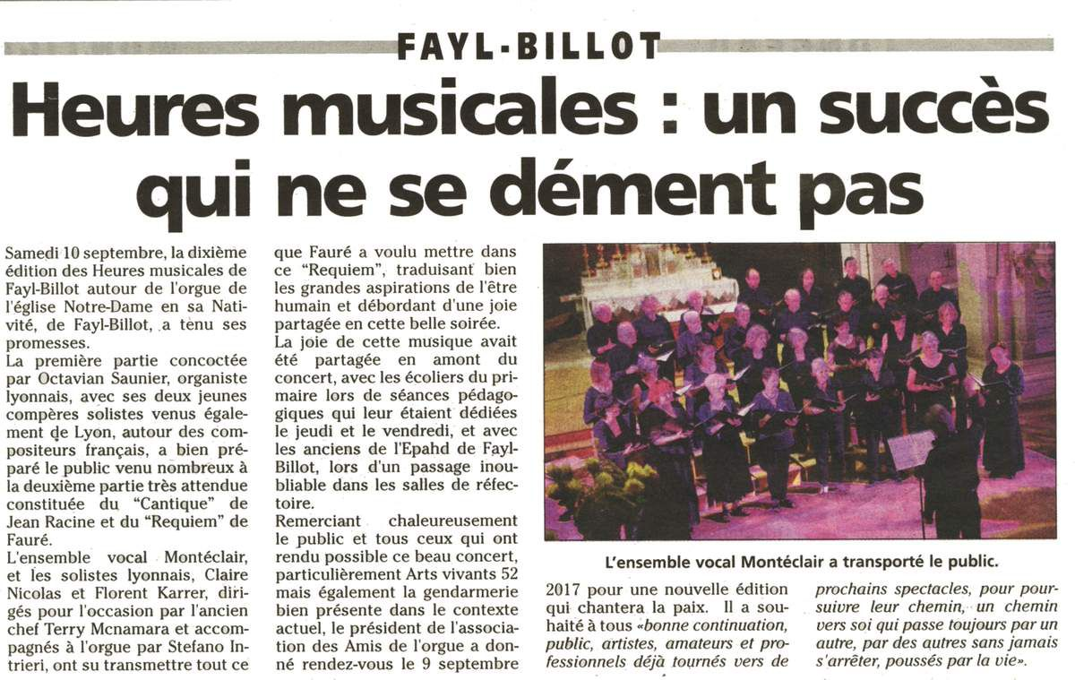 10 septembre 2016: Le Requiem de Fauré à Fayl-Billot (Le JHM, 15 septembre 2016)
