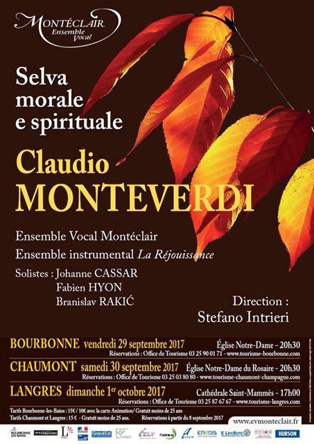 Octobre 2017: programme Monteverdi, La Selva morale e spirituale