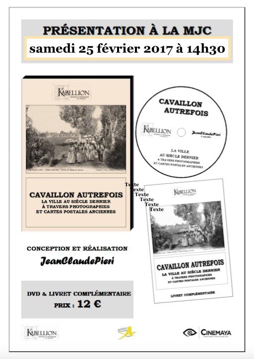 CAVAILLON AUTREFOIS... deuxième projection du DVD de Jean-Claude PIERI