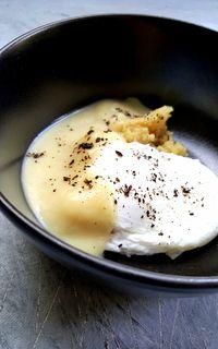 Crème de céleri , lait de coco, oeuf et poudre de citron noir d'Iran