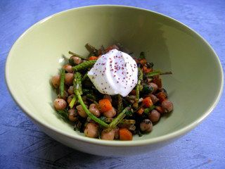 Asperges sauvages, Pois chiches