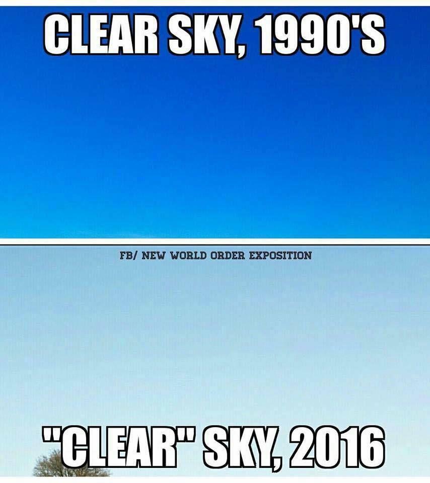 Le bleu du ciel en 1990 et en 2016