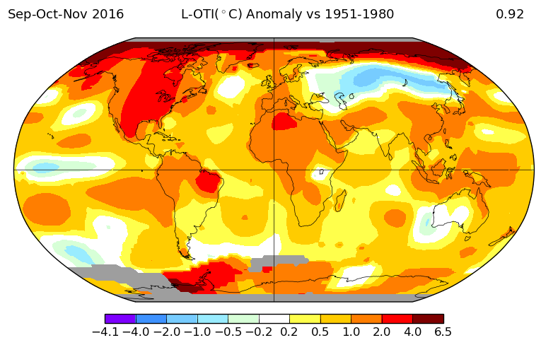 Celle-ci montre la même chose dans l'hémisphère nord en automne (septembre -octobre -novembre) en 2016.