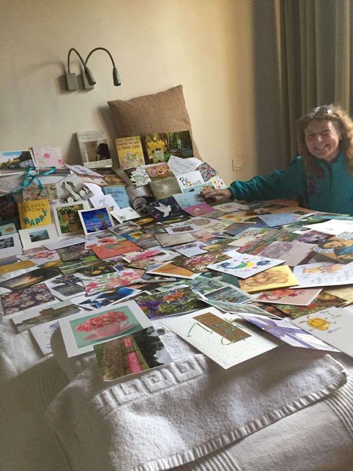 Lynda Thyer  et ses 400 cartes de soutien - Le vendredi 13 décembre 2019