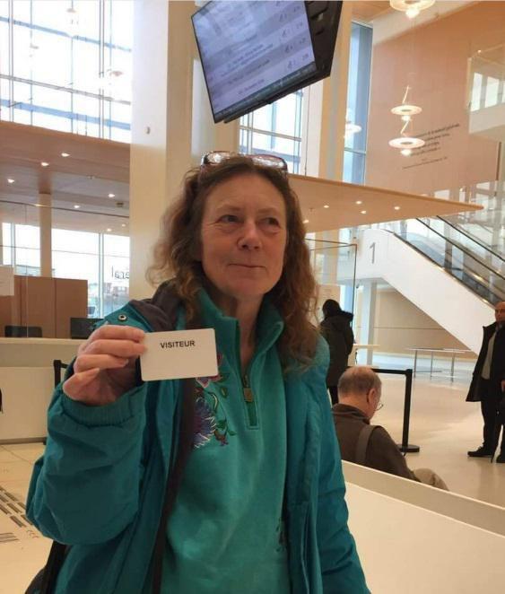 Lynda Thyer au tribunal à Paris le 13 décembre 2019