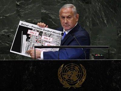 Le 27 septembre 2018, Benjamin Netanyahu désigne à la tribune de l'Assemblée générale des Nations Unies l'entrepôt qui explosera le 4 août 2020 comme un dépôt d'armes du Hezbollah.