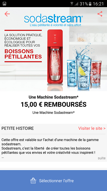 remboursement_machine_sodastream_coupon_network_application_mobile
