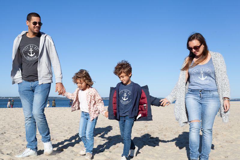 shooting à la plage en famille avec photographe
