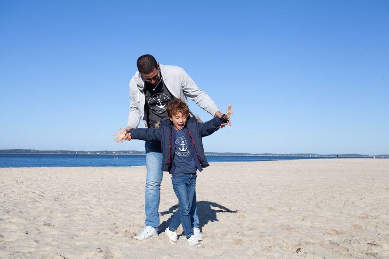 arcachon séance photo en gironde père et fils