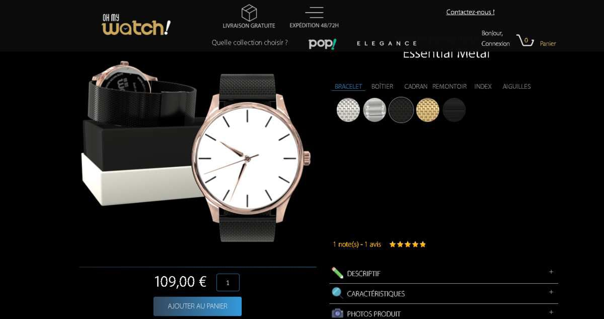 montre personnalisée oh my watch made in france