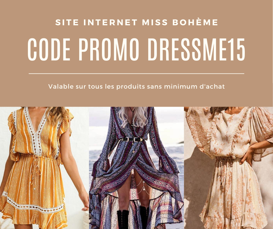 Miss Bohème code réduction promo 15 %