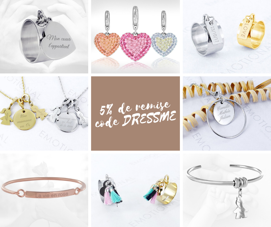 CODE PROMOTIONNEL DE 5% CHEZ EMOTIONAL BIJOUX