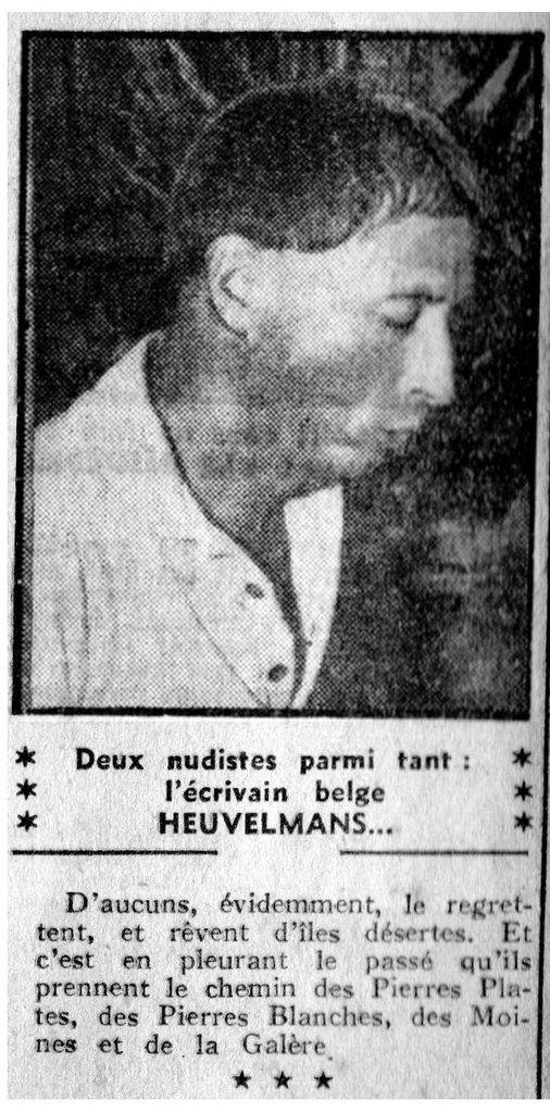 1959 à l'île du Levant dans NICE MATIN 1/2