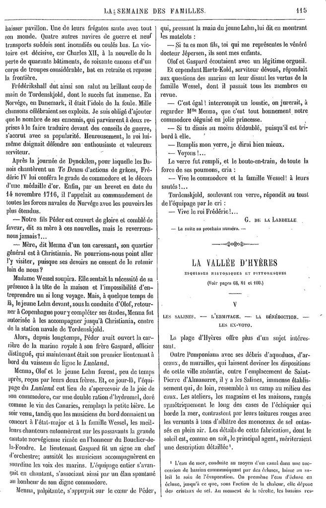 Semaine des Familles du 23/11/1861 Source : http://gallica.bnf.fr