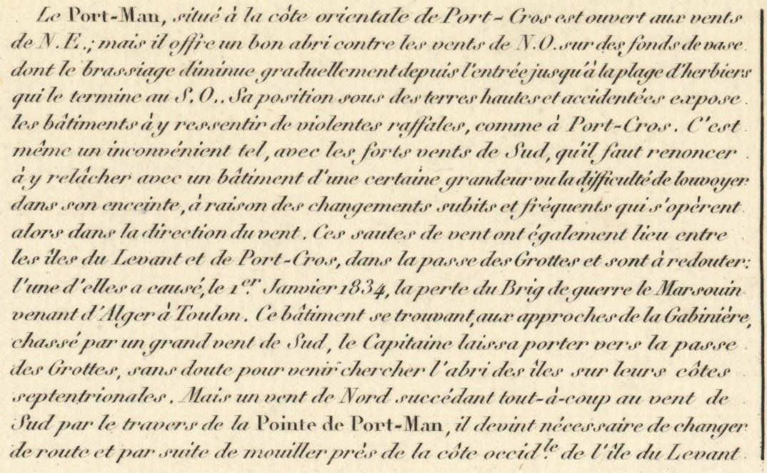 Une carte marine de 1842 1/2