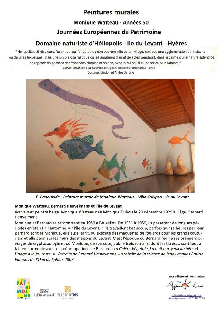 Dimanche ; Monique Watteau et les peintures murales