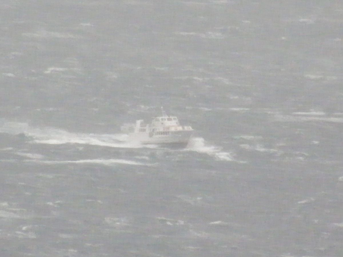 Coup de vent d'est en mer