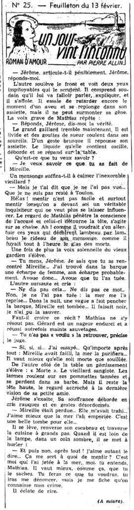 LE PETIT DAUPHINOIS du 13 et 20 février 1941. Source : http://www.lectura.plus/