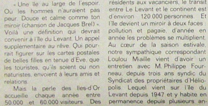 En 1980 : Et pourquoi pas une centrale solaire sur l'île du Levant ?