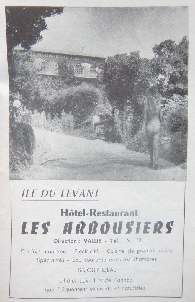 Des publicités dans le guide de l'ÎLE DU LEVANT de 1958