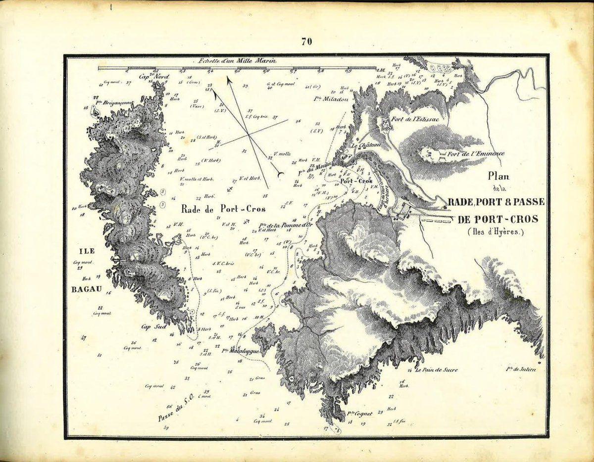 1851 : Rade, Port et Passe de Port Cros