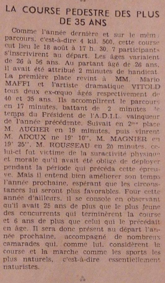 Petits échos de l'île en 1950 - Revue ADIL n°4