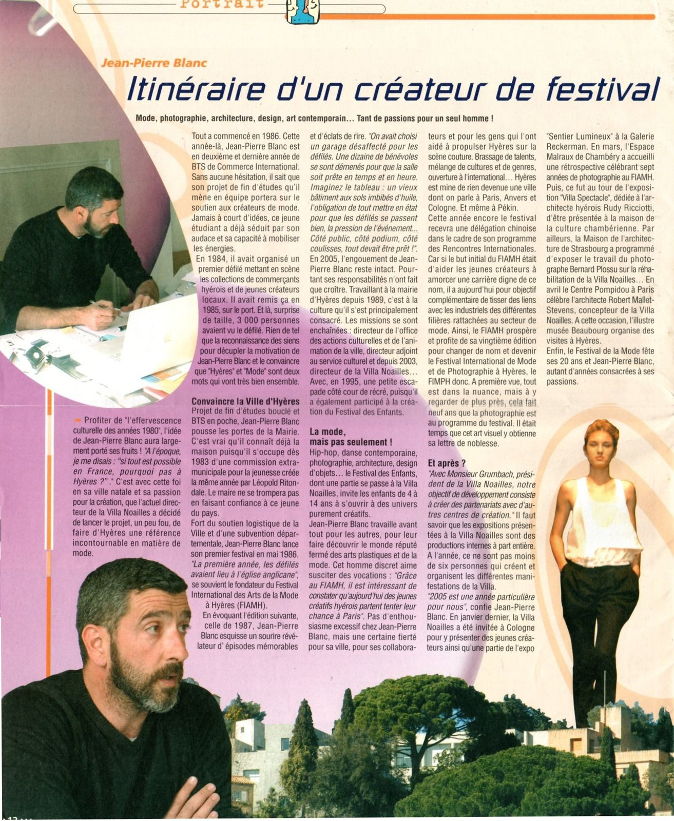 DANS LE JOURNAL MUNICIPAL D'HYERES N° 94 D'AVRIL 2005