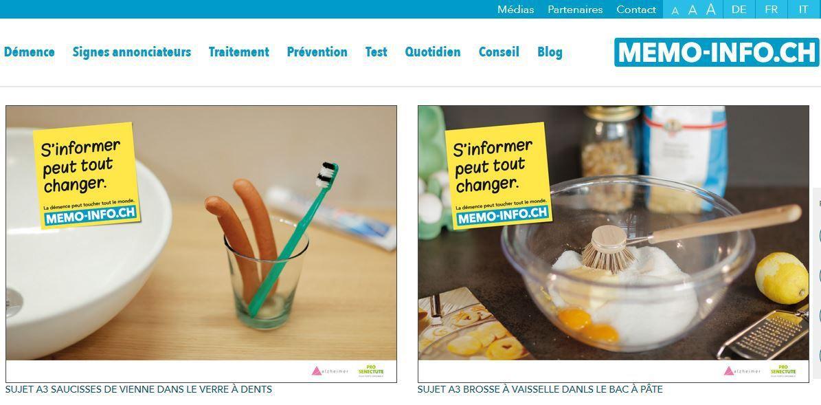 """Affichettes de la campagne """"S'informer peut tout changer"""" sur le site memo-info.ch"""