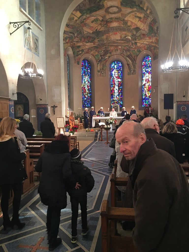 Wittenheim : très belle messe de la Ste Barbe, patronne des gens du dévouement .