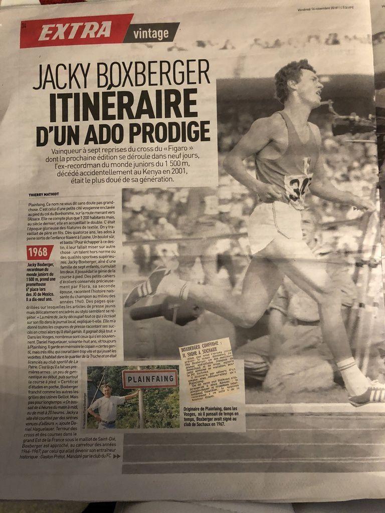 Deux pages pour Jacky Boxberger dans l'équipe d'aujourd'hui
