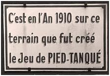 Plaque commémorative sur le boulodrome de La Ciotat.
