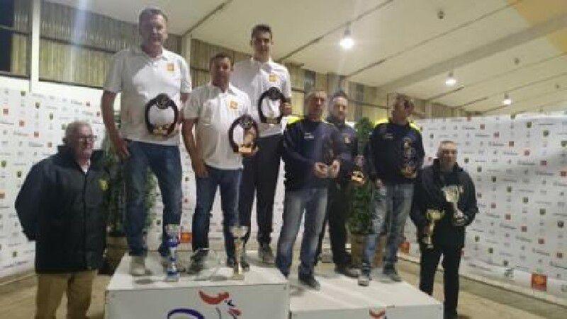 Champions de Ligue Midi-Pyrénées triplette promotion GENNERO CHRISTOPHE GARRIGUES HUGO RENARD MICHEL ( PETANQUE MOISSAGAISE/082 )